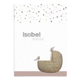 Geboortekaart Isobel