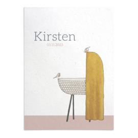 Geboortekaart Kirsten