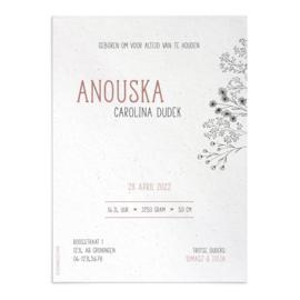 Geboortekaart Anouska