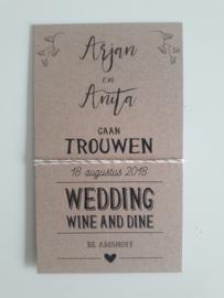 De trouwkaart van Arjan & Anita