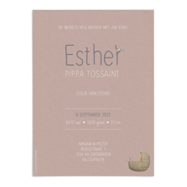 Geboortekaart Esther
