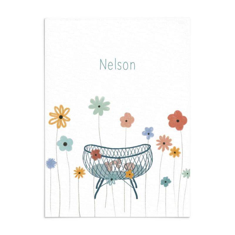 Geboortekaart Nelson - zomer!
