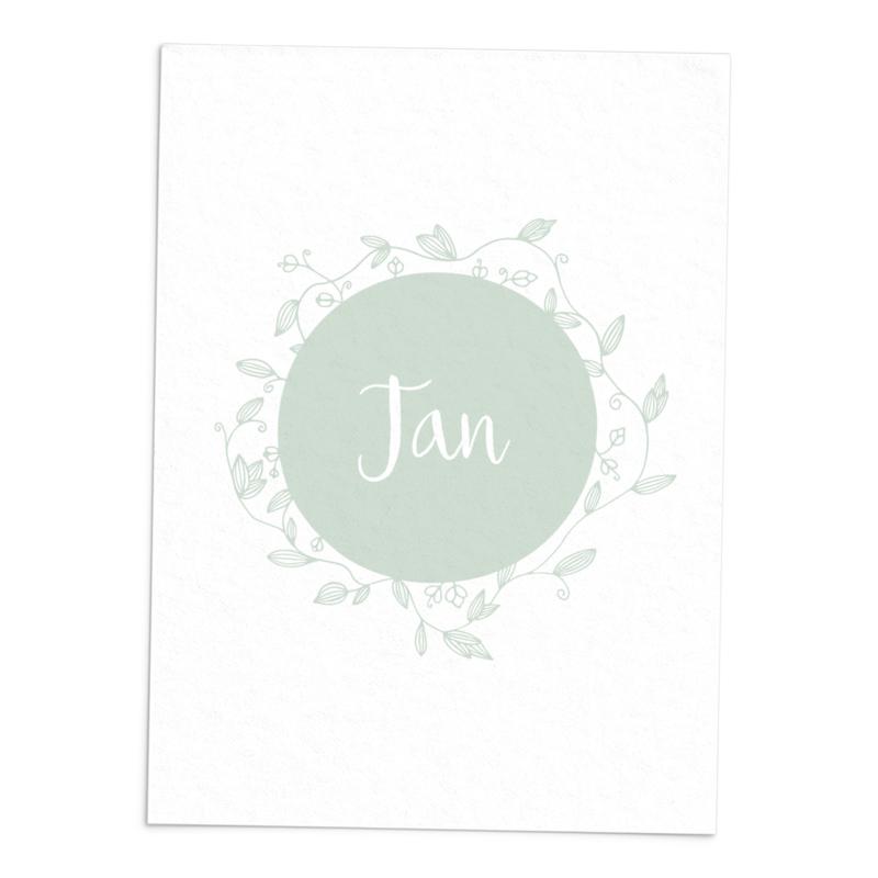 Geboortekaart Jan