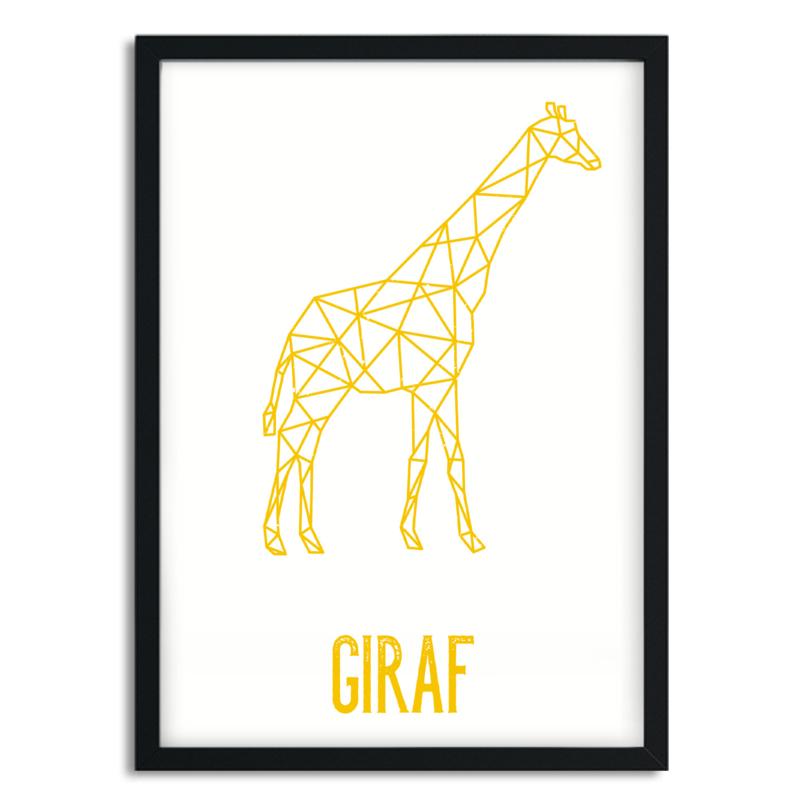 Poster Giraf A5/A4