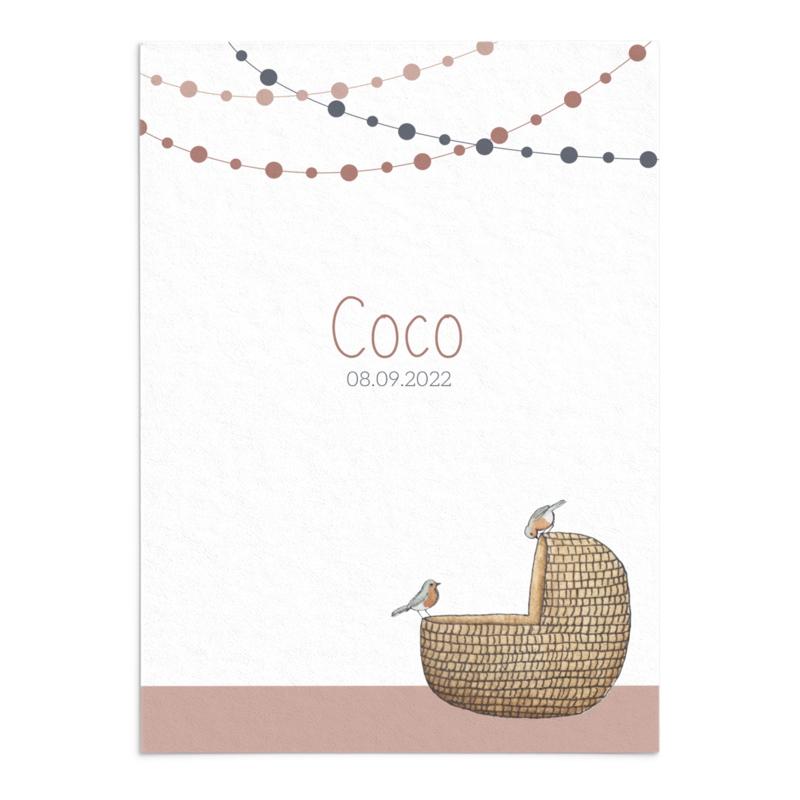 Geboortekaart Coco
