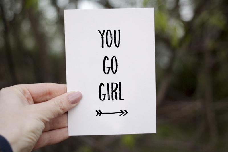 Kaart 'Go Girl' A6/A5