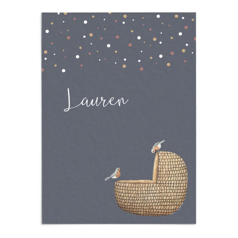 Geboortekaart Lauren