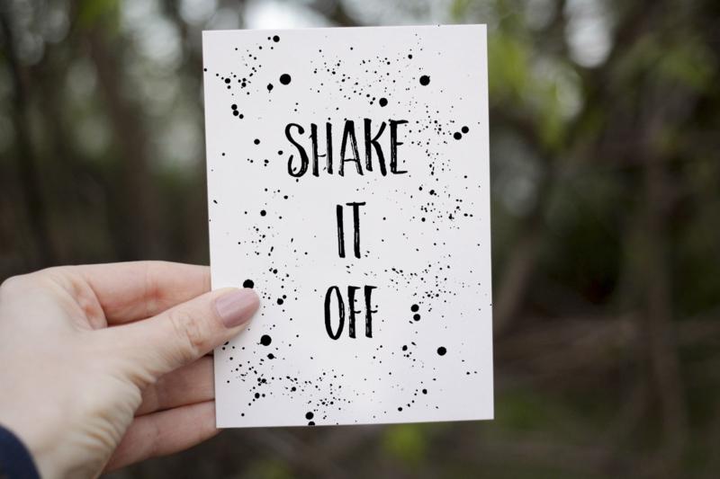 Kaart 'Shake it' A6/A5