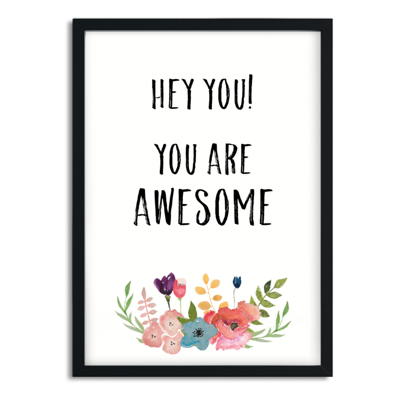Mini Poster 'Awesome'