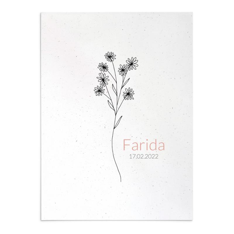Geboortekaart Farida