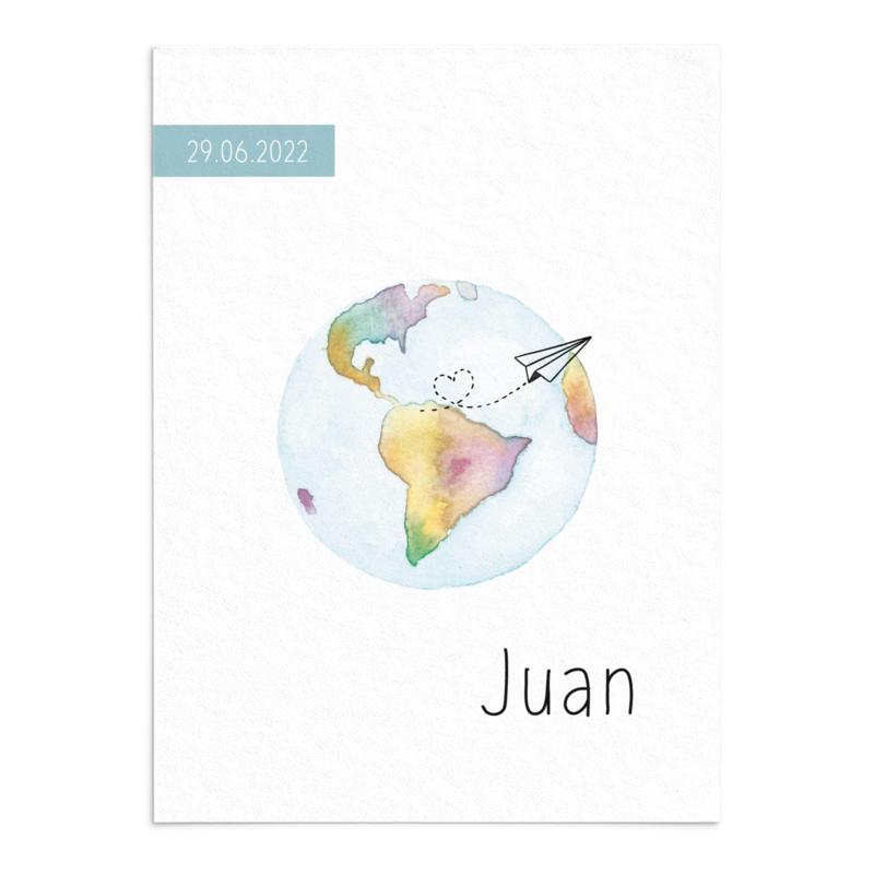 Geboortekaart Juan