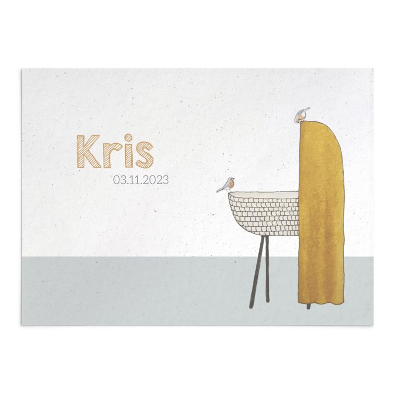 Geboortekaart Kris