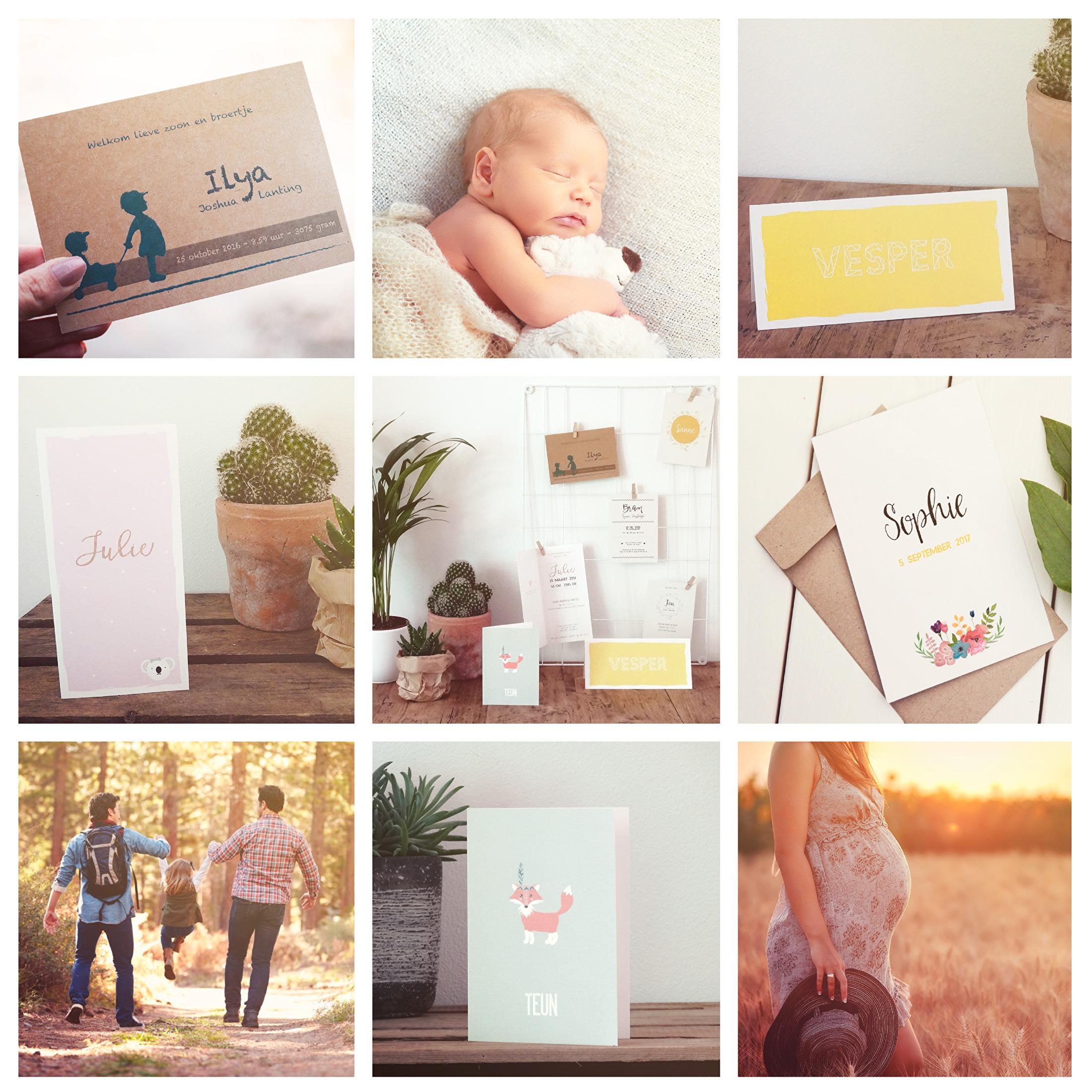 Geboortekaarten - portfolio Liefs van Roos