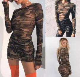 ARMY DRESS SEE-THROUGH