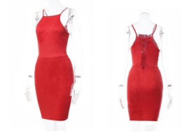 SUÈDE DRESS RED