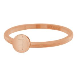 iXXXi Jewelry Ring Alfabet J Rosé 2mm