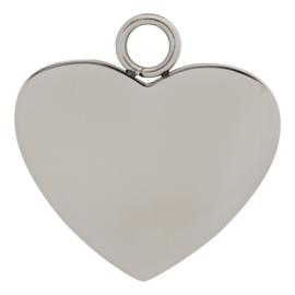 iXXXi Jewelry Charm Hart Zilver