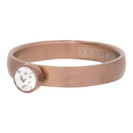 iXXXi Jewelry Zirconia 1 Steen Cristal Mat Bruin 4mm