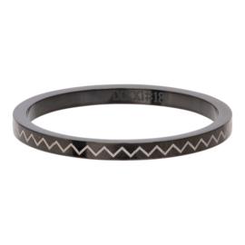 iXXXi Jewelry Vulring 2mm Heartbeat Zwart