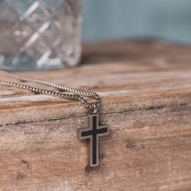 iXXXi Men Jewelry Chain Cross Ketting Zilverkleurig