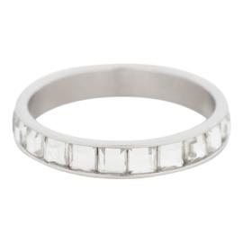 iXXXi Jewelry Clear Glass Wit Zilverkleurig 4mm