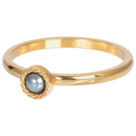 iXXXi Jewelry Vulring Royal Grey 2mm Goudkleurig