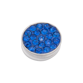 iXXXi Jewelry Top Part Capri Blue Stone Zilverkleurig