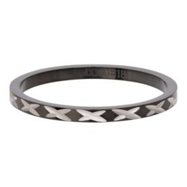 iXXXi Jewelry Vulring 2mm X Row Zwart