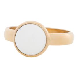 iXXXi Jewelry 12mm White Stone Goudkleurig 4mm