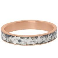 iXXXi Jewelry Vulring Glitter Confetti 4mm Rosé