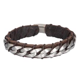 iXXXi Men Bracelet Carlos Mat Zilver Bruin