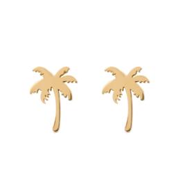 iXXXi Jewelry Ear Studs Palm Tree Goudkleurig