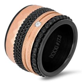 iXXXi Jewelry Basis Ring 16mm Zwart