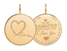 iXXXi Jewelry Pendant Daughter Love Big Gold
