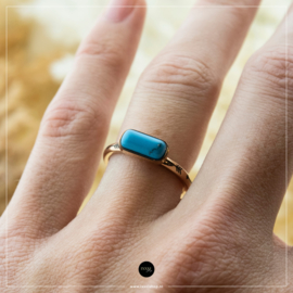 iXXXi Jewelry Losse Ring Festival Turquoise Rosé 2mm