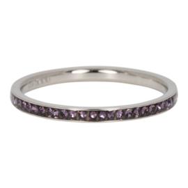 iXXXi Jewelry Vulring Zirconia Tanzanite 2mm Zilverkleurig