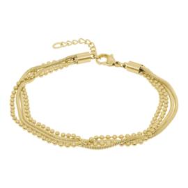 iXXXi Jewelry Ankle Strap Snake Ball Slim 4pcs Goudkleurig