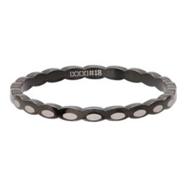 iXXXi Jewelry Vulring 2mm Oval Shape Zwart