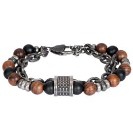 iXXXi Men Bracelet Jake Mat Zilver One Size