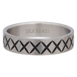 iXXXi Jewelry Men Cross Line Mat 6mm