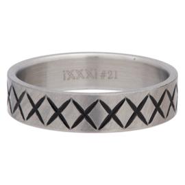 iXXXi Jewelry Men Cross Line Mat 6mm