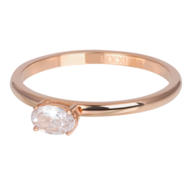 iXXXi Jewelry Losse Ring King Rosé 2mm