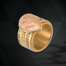 iXXXi Jewelry Vulring Royal Stone Drop Topaz 2mm Goudkleurig