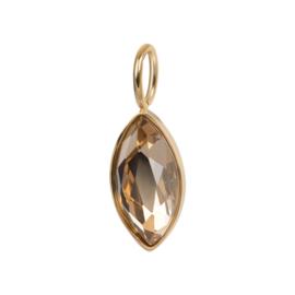 iXXXi Jewelry Charm Royal Diamond Topaz Goudkleurig
