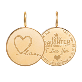iXXXi Jewelry Pendant Daughter Love Small Gold