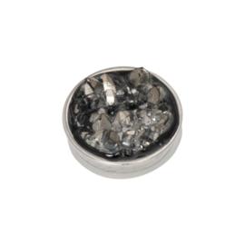 iXXXi Jewelry Top Part Drusy Dark Grey Zilverkleurig