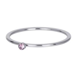 iXXXi Jewelry Vulring Pink 1 Stone Zilverkleurig 1mm