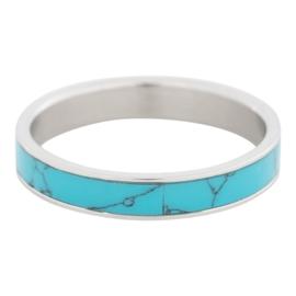 iXXXi Jewelry Turquoise Stone Zilverkleurig 4mm