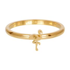 iXXXi Jewelry Vulring Symbol Flamingo Goudkleurig 2mm