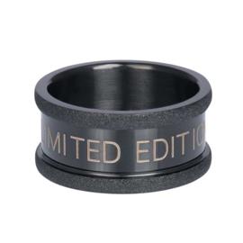 iXXXi Jewelry Basisring Limited 10mm Zwart